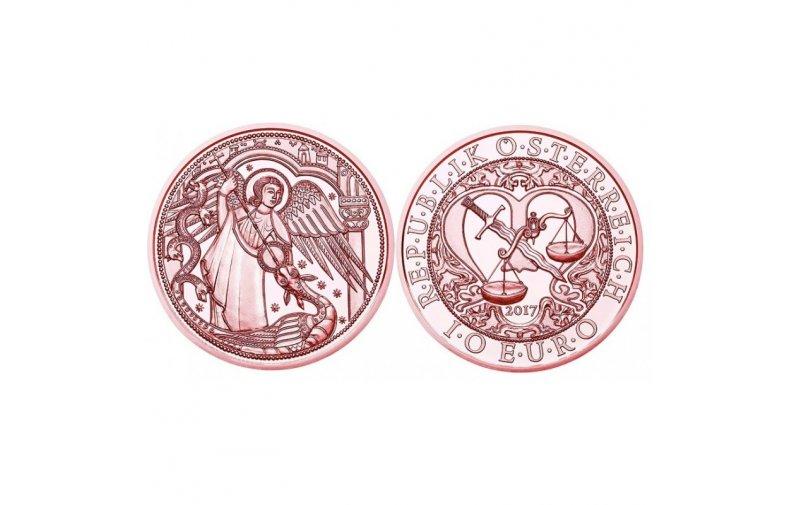10 Euro Kupfer österreich 2017 Schutzengel Michael 1390 Euro