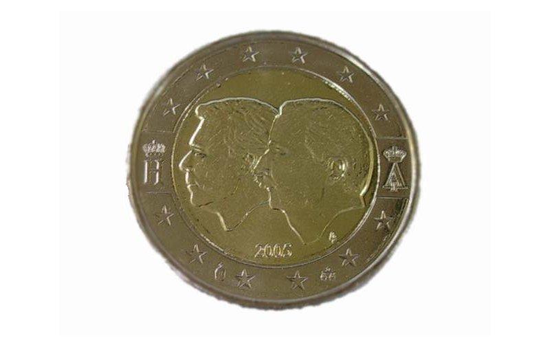 2 Euro Sondermünze Belgien 2005 Wirtschaftsunion Gedenkmünzen