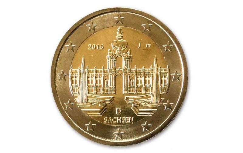 2 Euro Sondermünze Deutschland 2016 Sachsen Gedenkmünzen Kaufen