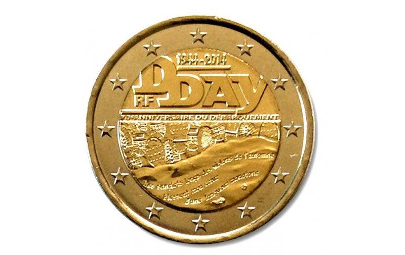2 Euro Sondermünze Frankreich 2014 D Day Gedenkmünzen Kaufen