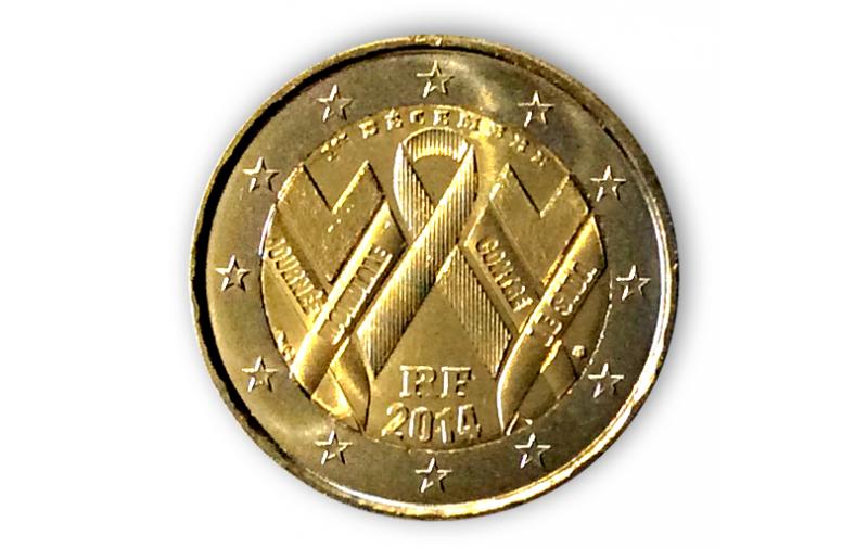 2 Euro Sondermünze Frankreich 2014 Welt Aids Tag Vorverkauf