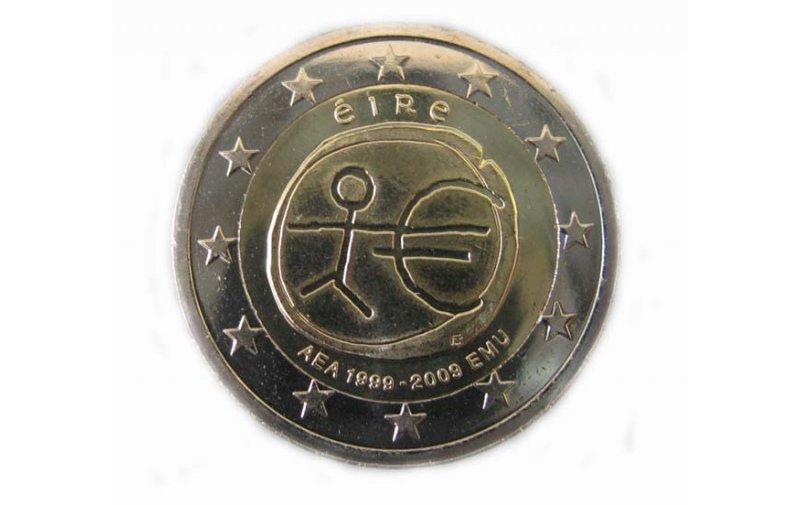 2 Euro Sondermünze Irland 2009 10 Jahre Euro Gedenkmünzen Kaufen