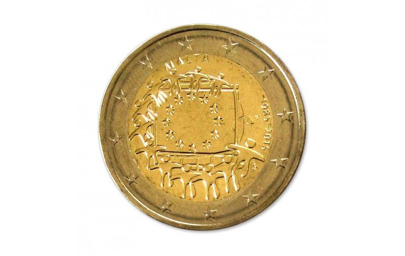 2 Euro Sondermünze Malta 2015 30 Jahre Europaflagge Gemeinschaftsausgabe