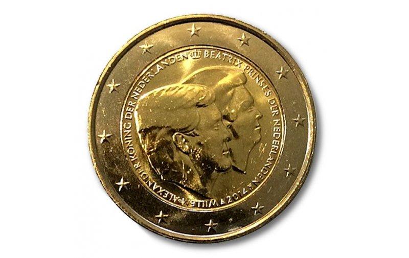 2 Euro Sondermünze Niederlande Holland 2014 Thronwechsel Willem