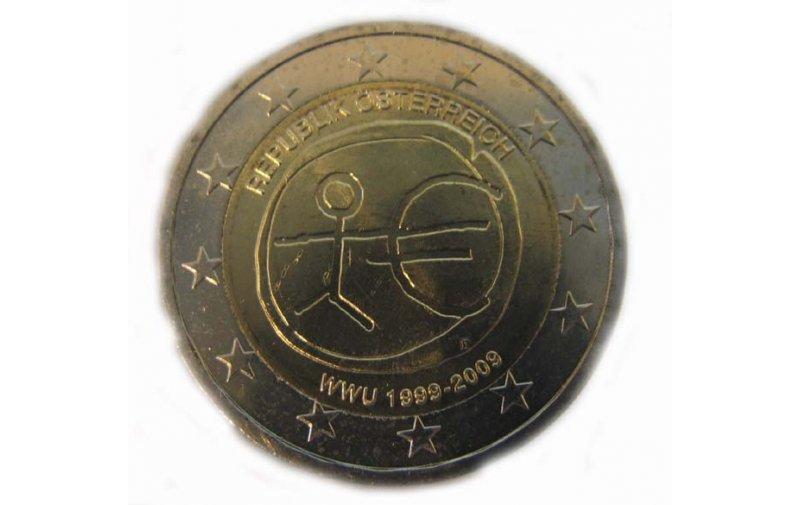 2 Euro Sondermünze österreich 2009 10 Jahre Euro Gedenkmünzen
