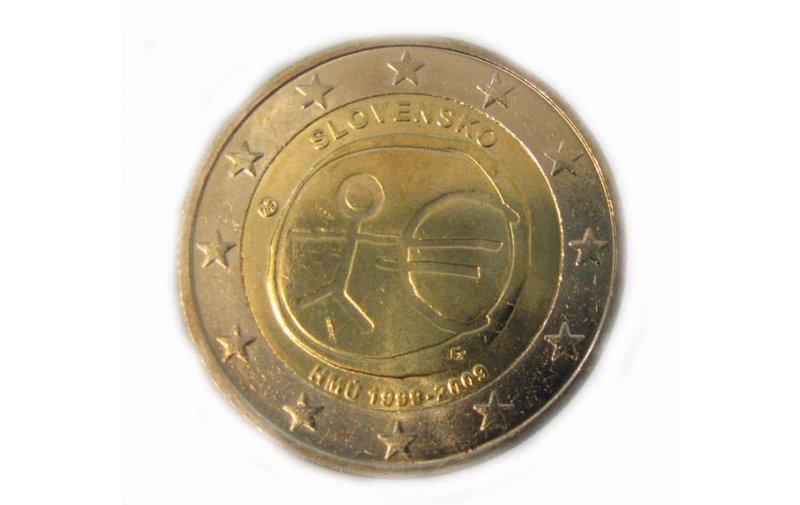 2 Euro Sondermünze Slowakei 2009 10 Jahre Euro Gedenkmünzen