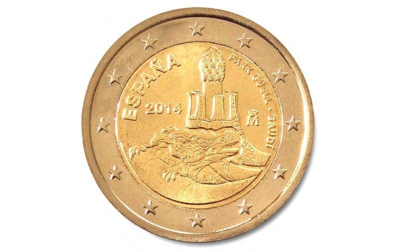 2 Euro Sondermünze Spanien 2014 Antonio Gaudi Park Güell