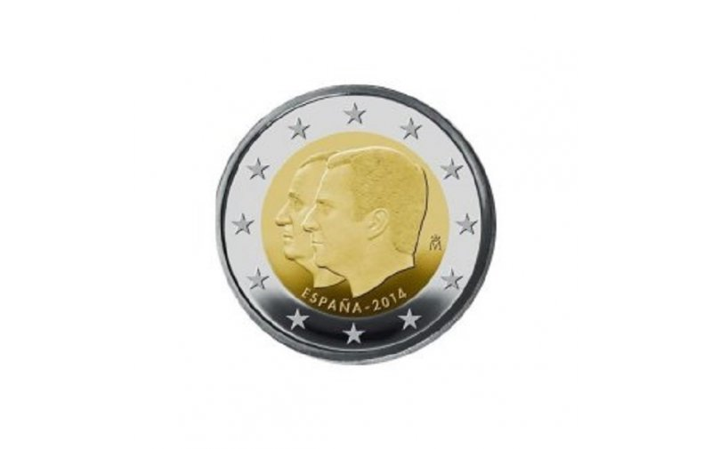 2 Euro Sondermünze Spanien 2014 König Felipe Gedenkmünzen Kaufen