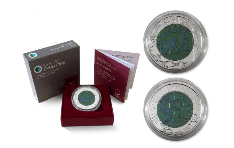 25 Euro Niob Münze österreich 2014 Evolution 14000
