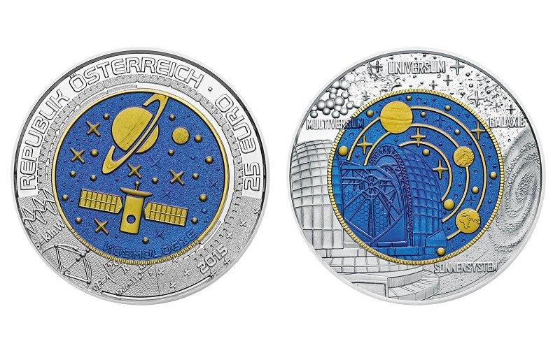 25 Euro Niob Münze österreich 2015 Kosmologie 10900