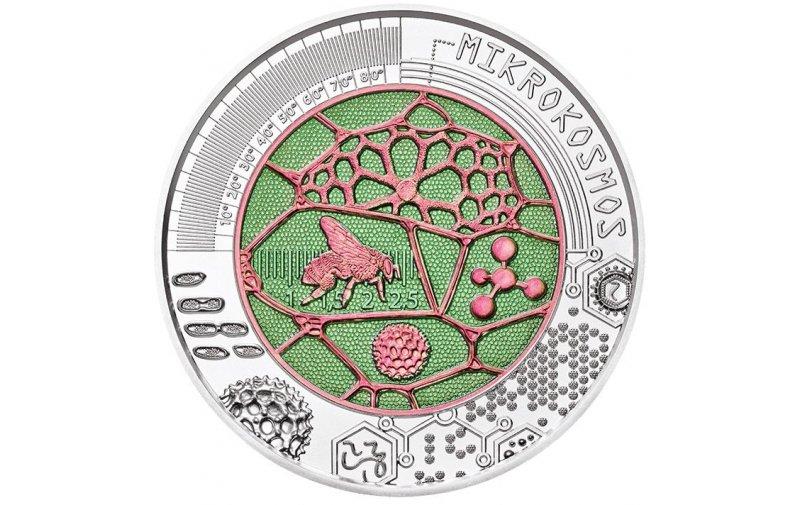 25 Euro Niob Münze österreich 2017 Mikrokosmos 11880
