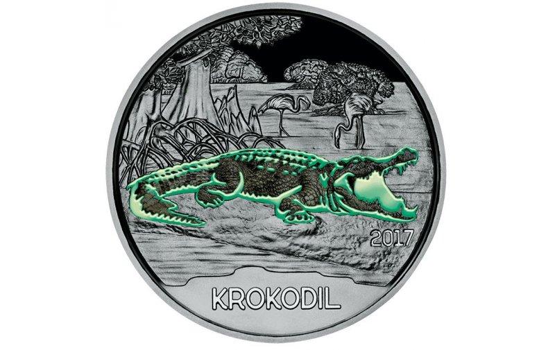 3 Euro Münze österreich 2017 Tier Taler Krokodil 5900