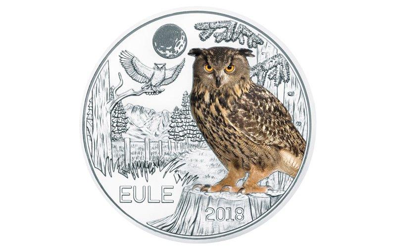 3 Euro Münze österreich 2018 Tier Taler Papagei 4490