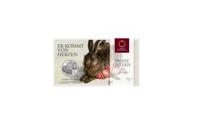 5 Euro Silber Münze österreich 2016 Feldhase 2790