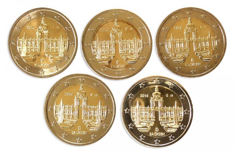 2 Euro Sondermünze Deutschland 2016 Gedenkmünzen Kaufen