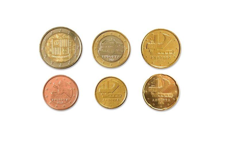 Kursmünzensatz Andorra 2014 Reservierung Gedenkmünzen Kaufen