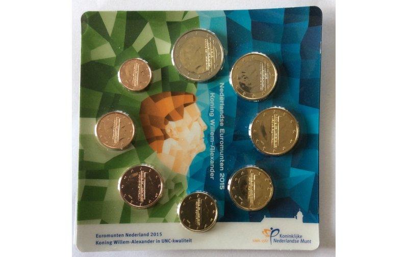 Kursmünzensatz Niederlande 2015 Die Neuen Münzmotive Mit König
