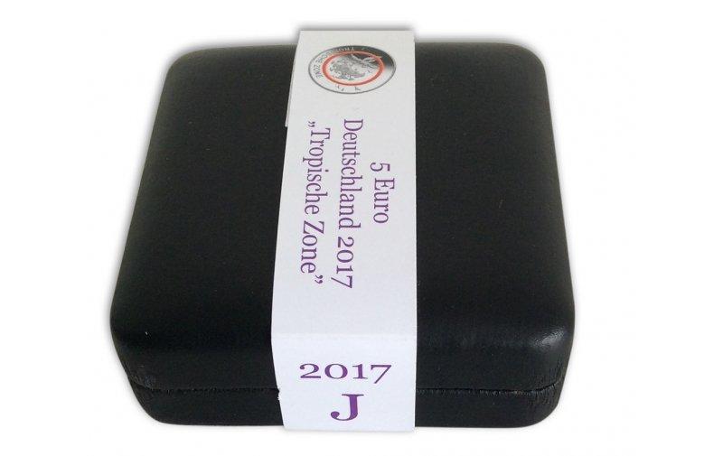Münzjuwel Luxus Schatulle Für 5 Euro Münze 2017 Tropis