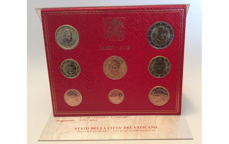 Offizieller Kursmünzensatz Vatikan 2015 Papst Franziskus Neu